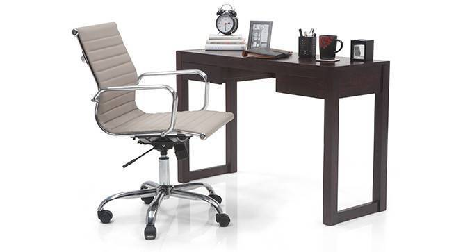 Austen - Charles Study Set (Mahogany Finish, Grey) by Urban Ladder