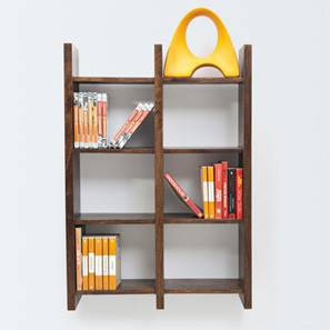 Tic-Tac Wall Rack (Walnut Finish) by Urban Ladder