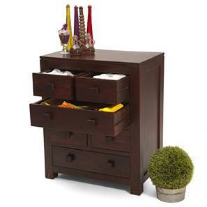 Kona Chest of Drawers (Mahogany Finish)