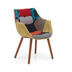 Reden Lounge Chair (Patchwork) by Urban Ladder