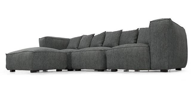 Chapman Modular Sofa (Smoke Grey) (Smoke, Fabric Sofa Material, Regular Sofa Size, Modular Sofa Type)