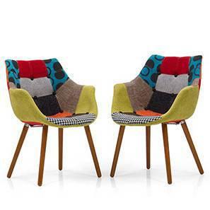 Merveilleux Reden Lounge Chairs Set (Patchwork) By Urban Ladder