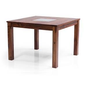 Brighton Square 4 Seater Dining Table (Teak Finish)