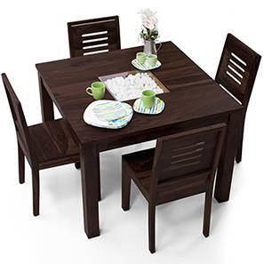 Brighton Square - Capra 4 Seater Dining Table Set (Mahogany Finish) by Urban Ladder