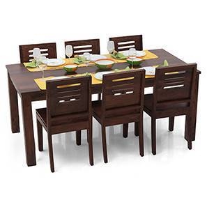 Arabia XL - Capra 6 Seater Dining Set (Mahogany Finish)