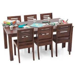 Arabia XL - Capra 6 Seater Dining Set (Teak Finish)