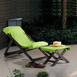 Matira Deck Chair & Foot Stool (Green)