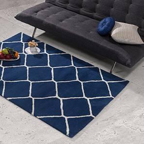 "Virginia Hand Tufted Carpet (48"" x 72"" Carpet Size, Navy) by Urban Ladder"