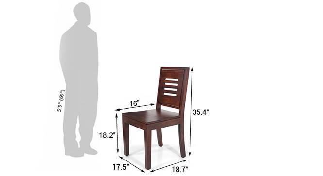 Capra dining chairs mahogany finish
