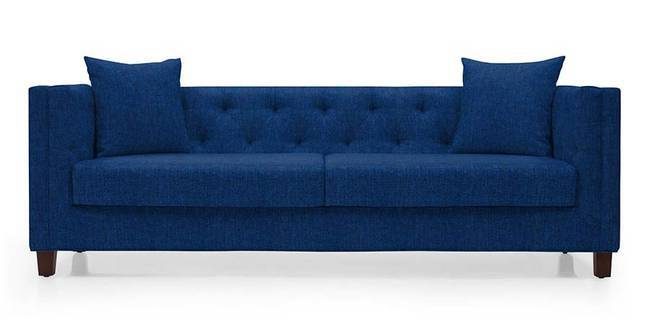 Windsor Sofa (Cobalt Blue) (Cobalt, Fabric Sofa Material, Regular Sofa Size, Regular Sofa Type)