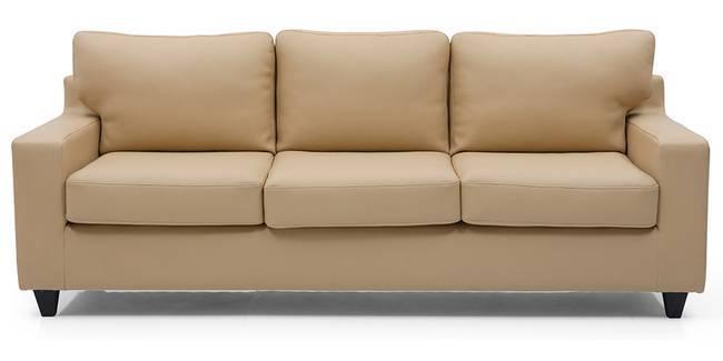 Walton Leatherette Sofa (Butterscotch) (Butterscotch, Leatherette Sofa Material, Regular Sofa Size, Regular Sofa Type)