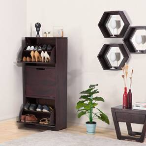 Manolo Shoe Cabinet (Mahogany Finish) by Urban Ladder