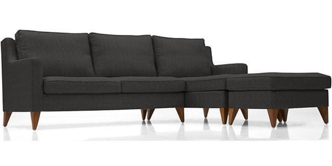 Greenwich Sectional Sofa (Cosmic Grey) (Cosmic, Fabric Sofa Material, Regular Sofa Size, Sectional Sofa Type)