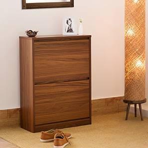 Pointe Shoe Cabinet (Walnut Finish, 9 Pair Capacity, Simple Configuration)