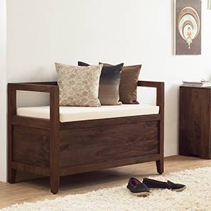 Patoa Entryway Storage bench (Mahogany Finish)