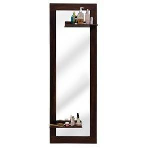 Damara mirror with shelves mahogany finish 00 img 0207 square