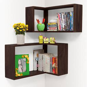 Gemelo Wall Shelves - Set of Two (Mahogany Finish)