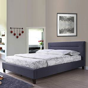 Gemellus Upholstered Bed (King Bed Size, Charcoal Grey) by Urban Ladder