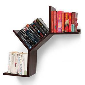 Tolem Wall Shelf (Mahogany Finish) by Urban Ladder