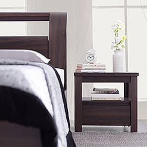 Alcott Bedside Table (Dark Oak Finish, With Drawer Configuration)