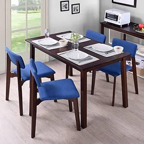Baretta lisso 4 seater dining set dark walnut deep blue 00 dsc4792.5 lp