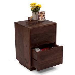 Zephyr Bedside Table (Mahogany Finish) by Urban Ladder