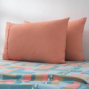 Plaksh Bed Cover (Pink, Queen Size)