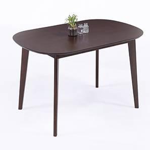 Noren 4 Seater Dining Table (Dark Walnut Finish) by Urban Ladder