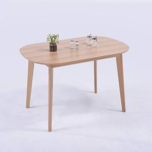 Noren 4 Seater Dining Table (Natural Finish)