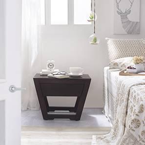 Caprica Bedside Table (Mahogany Finish)