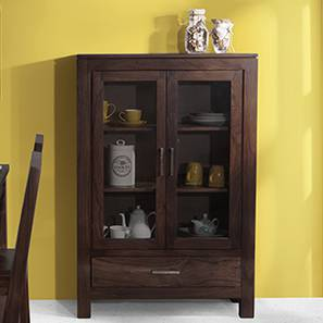 Carnegie Display Cabinet (Mahogany Finish) By Urban Ladder