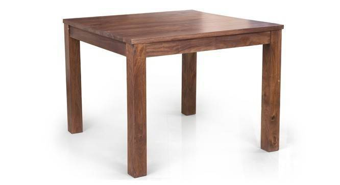 Arabia Square-Oribi 4 Seater Dining Table Set (Teak Finish) by Urban Ladder