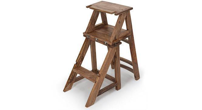 Attica Transforming Ladder - Chair (Teak Finish) by Urban Ladder