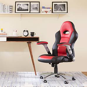 Mika Study Chair (Scarlet Red) by Urban Ladder