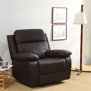 Robert Recliner (Chocolate Brown Leatherette) by Urban Ladder