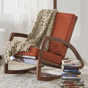 Dylan Rocking Chair (Teak Finish, Amber)