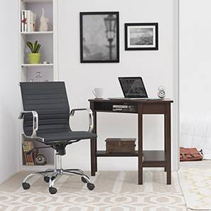 Collins - Charles Study Set (Black, Dark Walnut Finish) by Urban Ladder