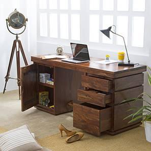 Vector Executive Desk (Teak Finish)