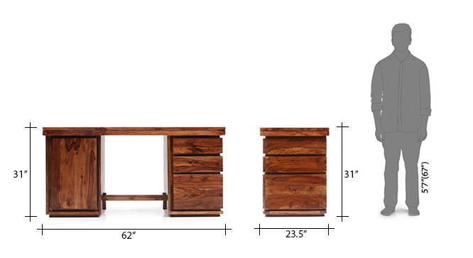 Vector study table teak 14 15
