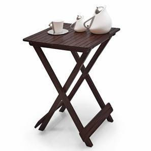 Latt Folding Table/Stool Tall (Mahogany Finish) by Urban Ladder