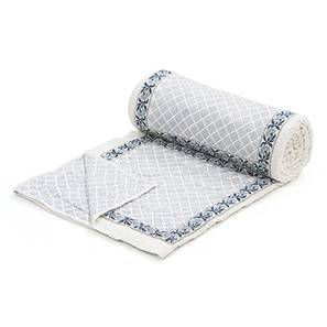 Jhrokha Quilt (Blue & White, Single Size)