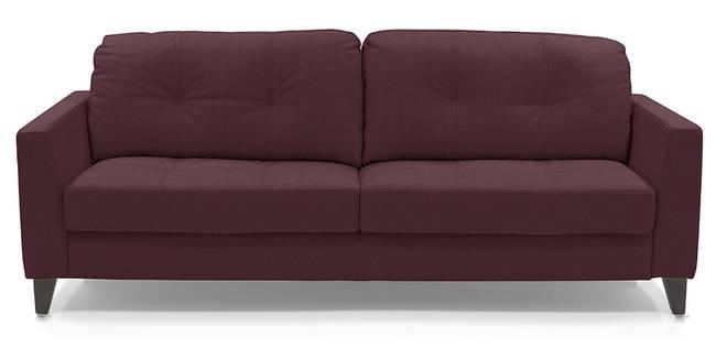 Franco Sofa (Wine Italian Leather) (Regular Sofa Size, Regular Sofa Type, Leather Sofa Material, Wine)