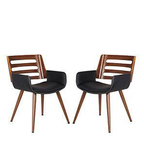 Yuten Lounge Chairs Set Of 2 (Walnut Finish) by Urban Ladder