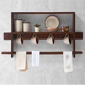 Ibex 2 Tier Kitchen Shelf & Rack (Dark Walnut Finish)