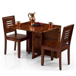 Danton 3-to-6 - Capra 2 Seater Folding Dining Table Set (Teak Finish)