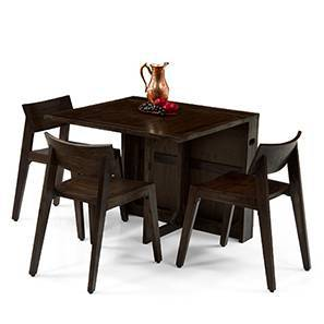 Danton 3 To 6   Gordon 3 Seater Folding Dining Table Set (Mahogany