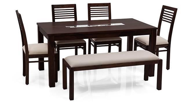Brighton Large Zella 6 Seater Dining Table Set With  : Brighton Zella4SeaterUpholsteredBenchDiningTableSetMHWB012 from www.urbanladder.com size 666 x 363 jpeg 23kB