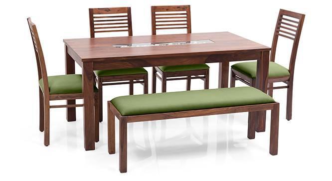 Brighton Large Zella 6 Seater Dining Table Set With  : Brighton Zella4SeaterUpholsteredBenchDiningTableSetTKAG012 from www.urbanladder.com size 666 x 363 jpeg 24kB