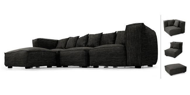 Chapman Modular Sofa (Cosmic Grey) (Cosmic, Fabric Sofa Material, Regular Sofa Size, Modular Sofa Type)