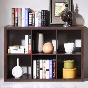 Boeberg Bookshelf (Dark Walnut Finish, 3 x 2 Configuration, Without Inserts) by Urban Ladder
